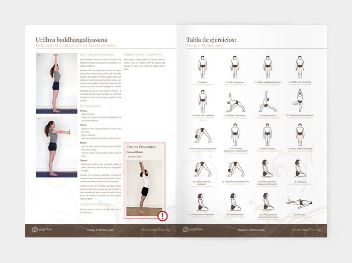 Diseño gráfico Curso de Yoga