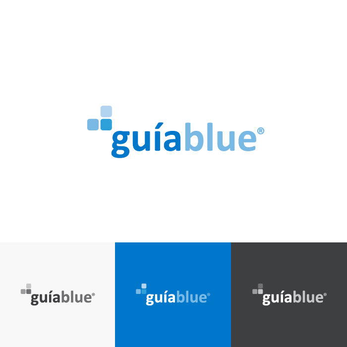 Diseño logotipo Guiablue