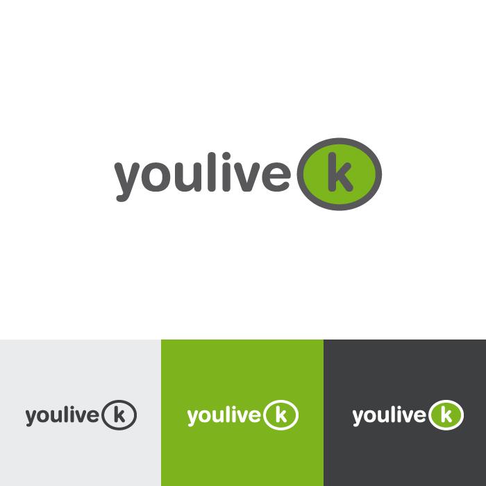 Diseño logotipo YouliveK