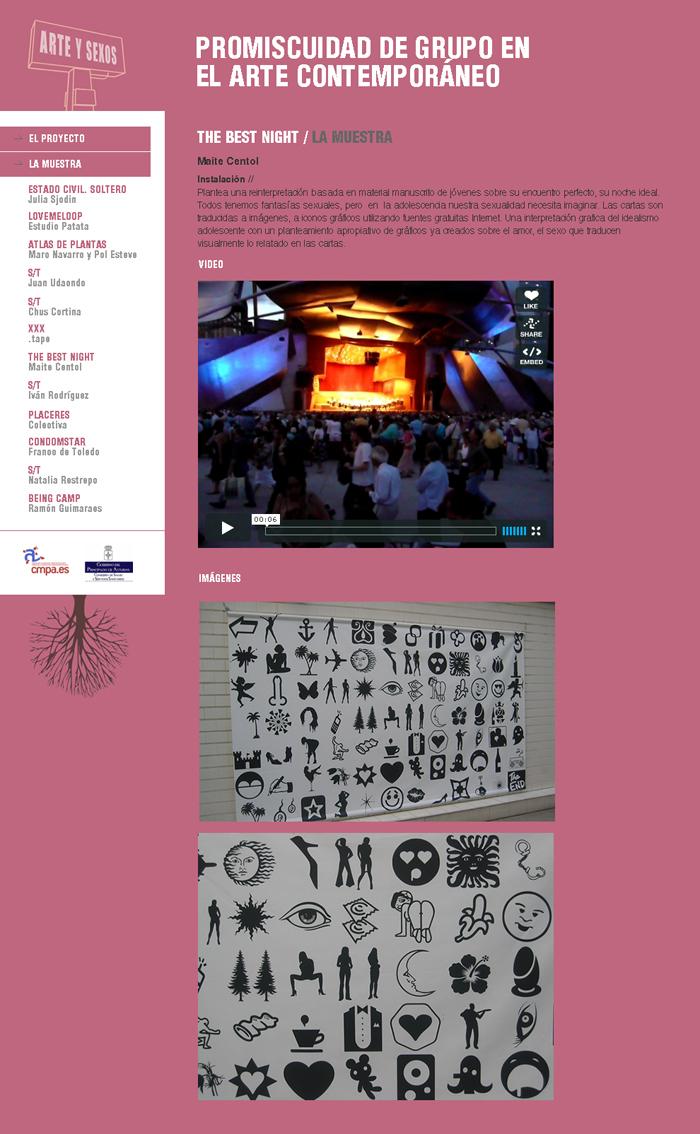 Diseño página web Arte y Sexos
