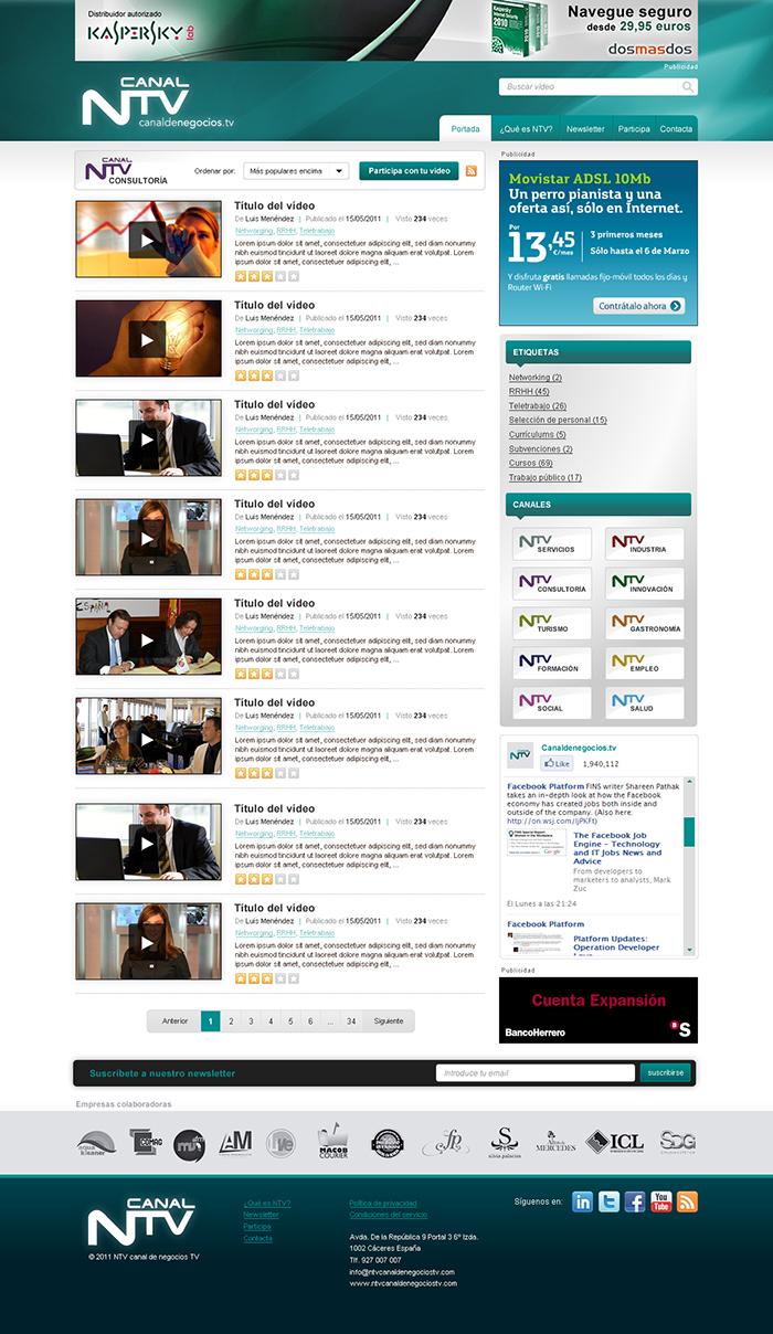 Diseño web Canal de Negocios