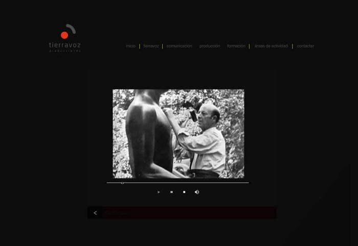 Diseño página web Tierravoz Comunicación