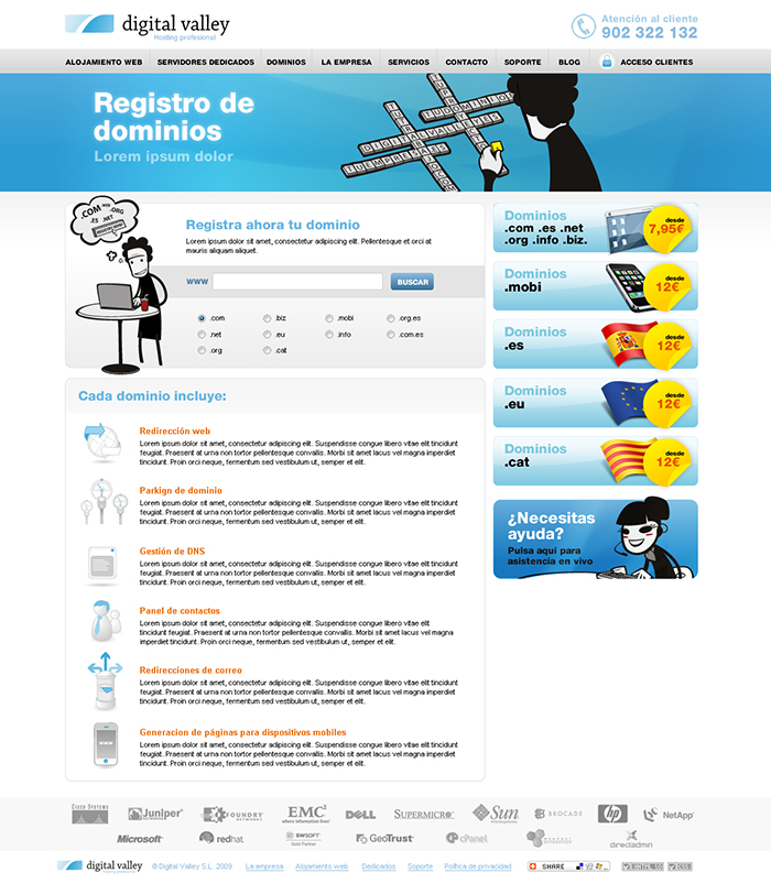 Diseño página web Digital Valley