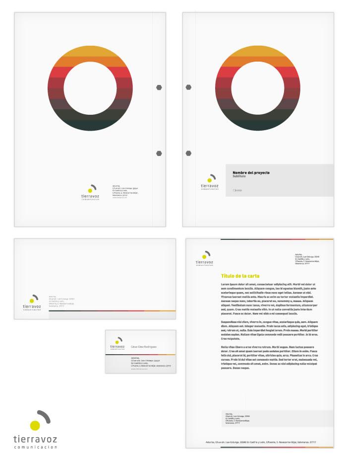 Aplicacion del logotipo de Tierravoz Comunicación