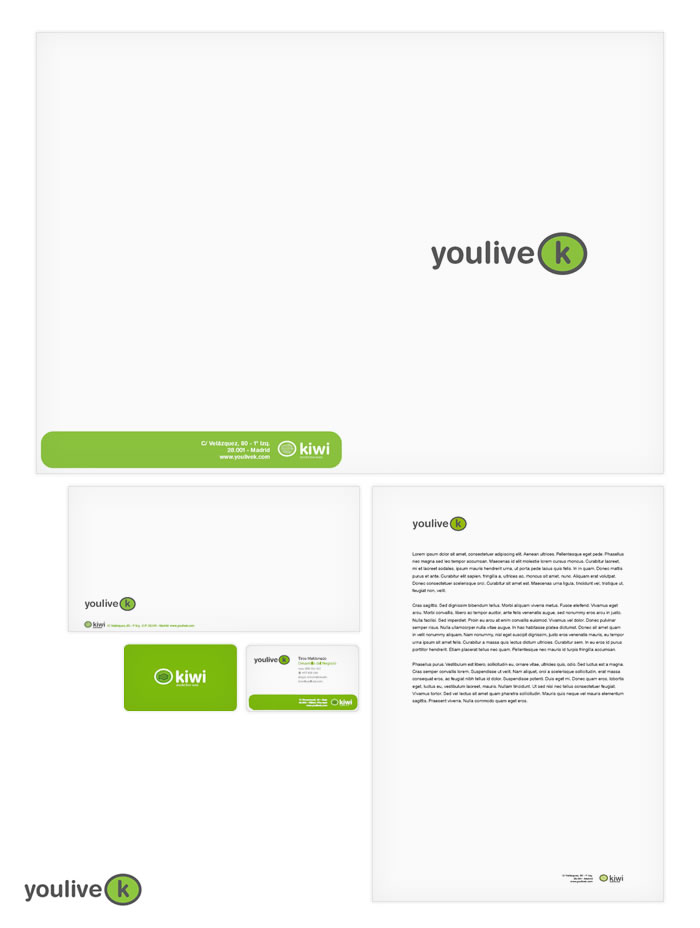 Identidad corporativa YouliveK