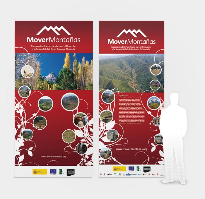Diseño gráfico Mover Montañas