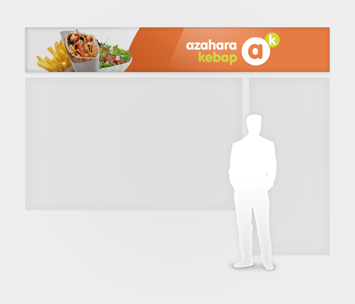 Identidad corporativa Azahara Kebab