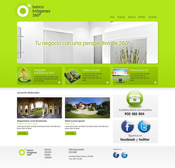 Diseño web Banco Imágenes 360º