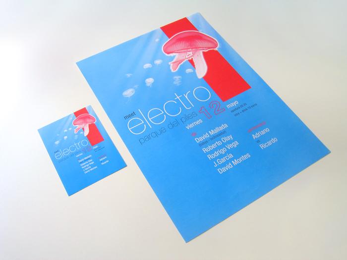 Diseño gráfico Meet Electro