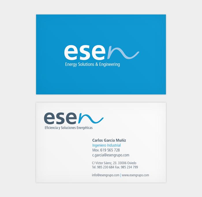 Identidad corporativa Esen Eficiencia y Soluciones Energéticas