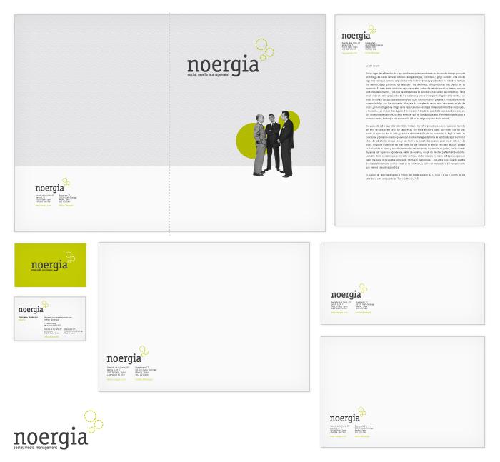 Identidad corporativa de Noergia Social Media Management