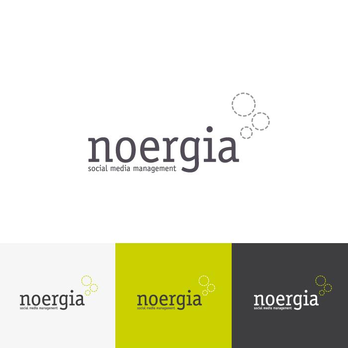 Diseño Logotipo Noergia Social Media Management