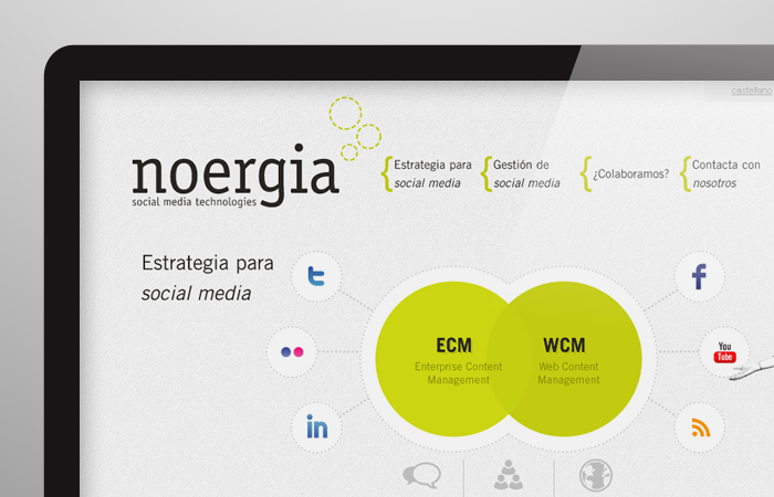 Diseño página web Noergia Social Media Management