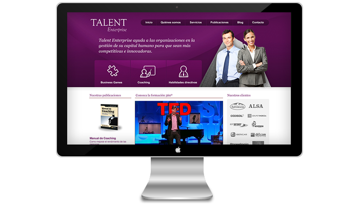 Diseño página web Talent Enterprise