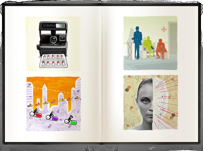 diseño gráfico cartel para exposición gráfica Premio Príncipe de Investigación 2012