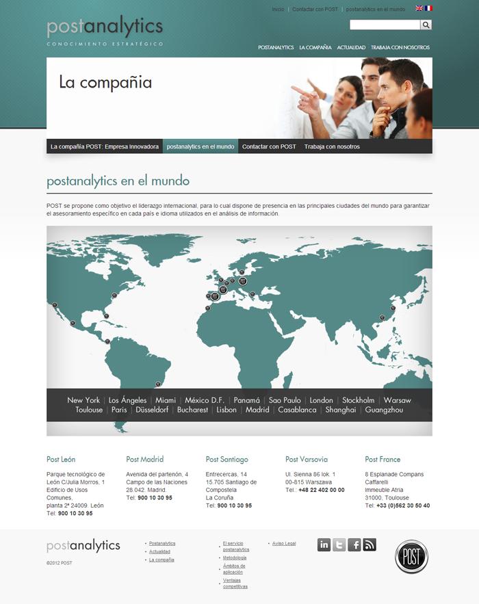 Diseño página web Postanalytics