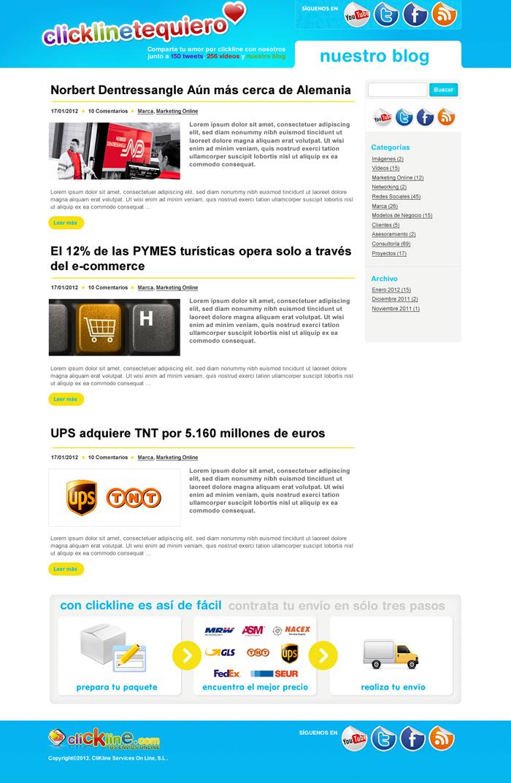 Diseño página web ClicklineTeQuiero