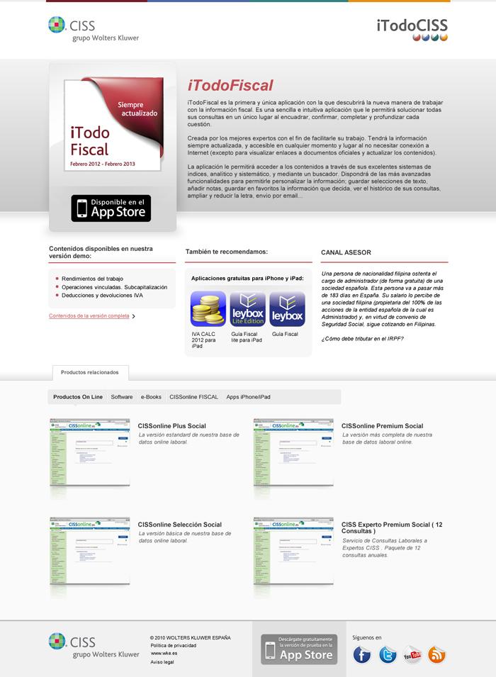 Diseño página web iTodo CISS