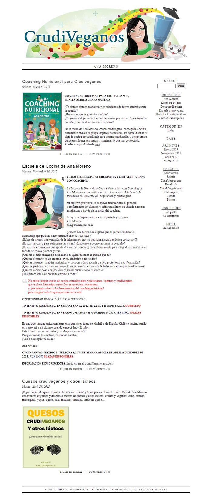 Diseño página web Mundo Vegetariano