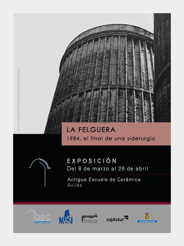 Diseño gráfico La Felguera 1984, el final de una siderurgia