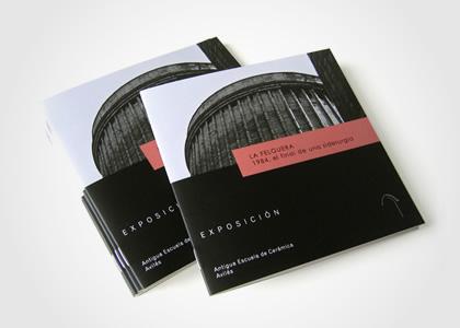 Diseño gráfico de la exposición La Felguera 1984, el final de una siderurgia