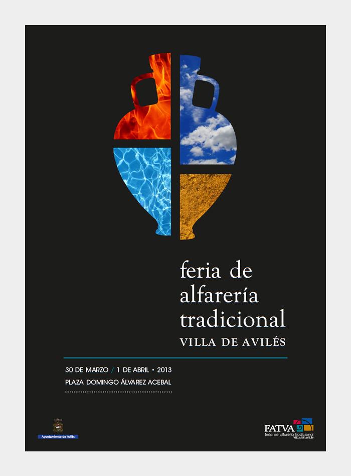 Diseño gráfico Feria de Alfarería Tradicional Villa de Avilés