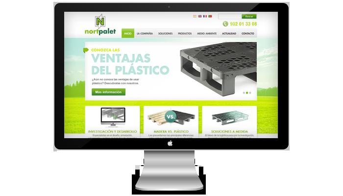 Diseño página web Nortpalet