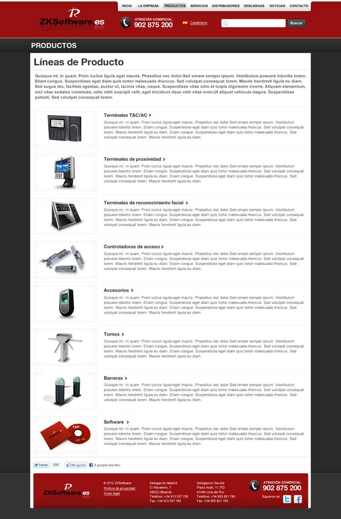 Diseño página web ZK SOFTWARE