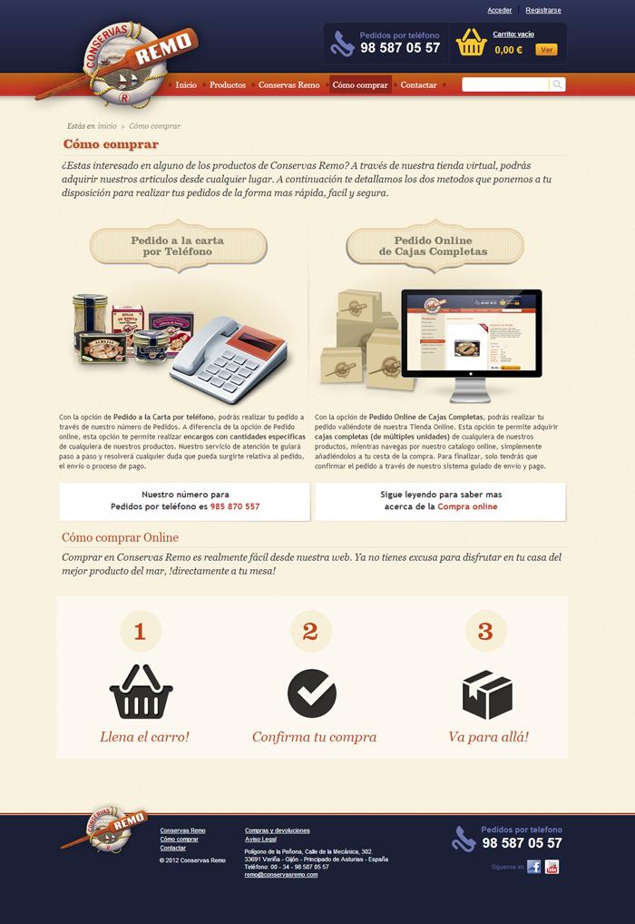 Diseño web CONSERVAS REMO