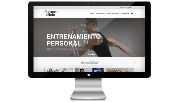 Diseño página web Fitroomclinic
