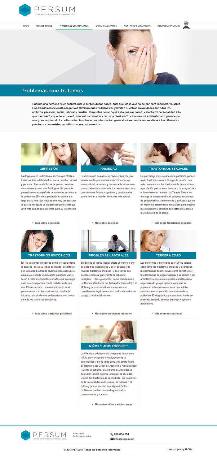 Diseño página web Persum