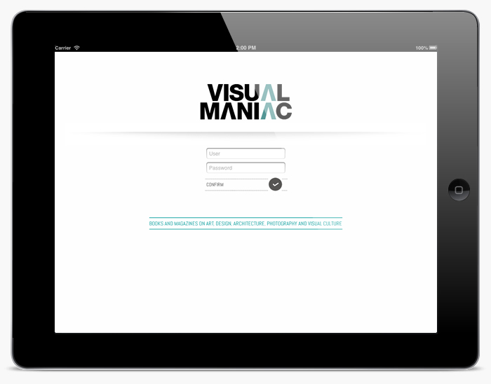 Desarrollo app iPad VISUALMANIAC