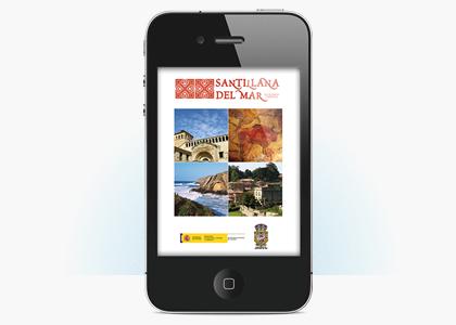 Diseño app móvil GUIABLUE SANTILLANA DEL MAR