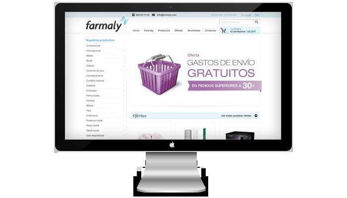 Diseño web tienda online Farmaly