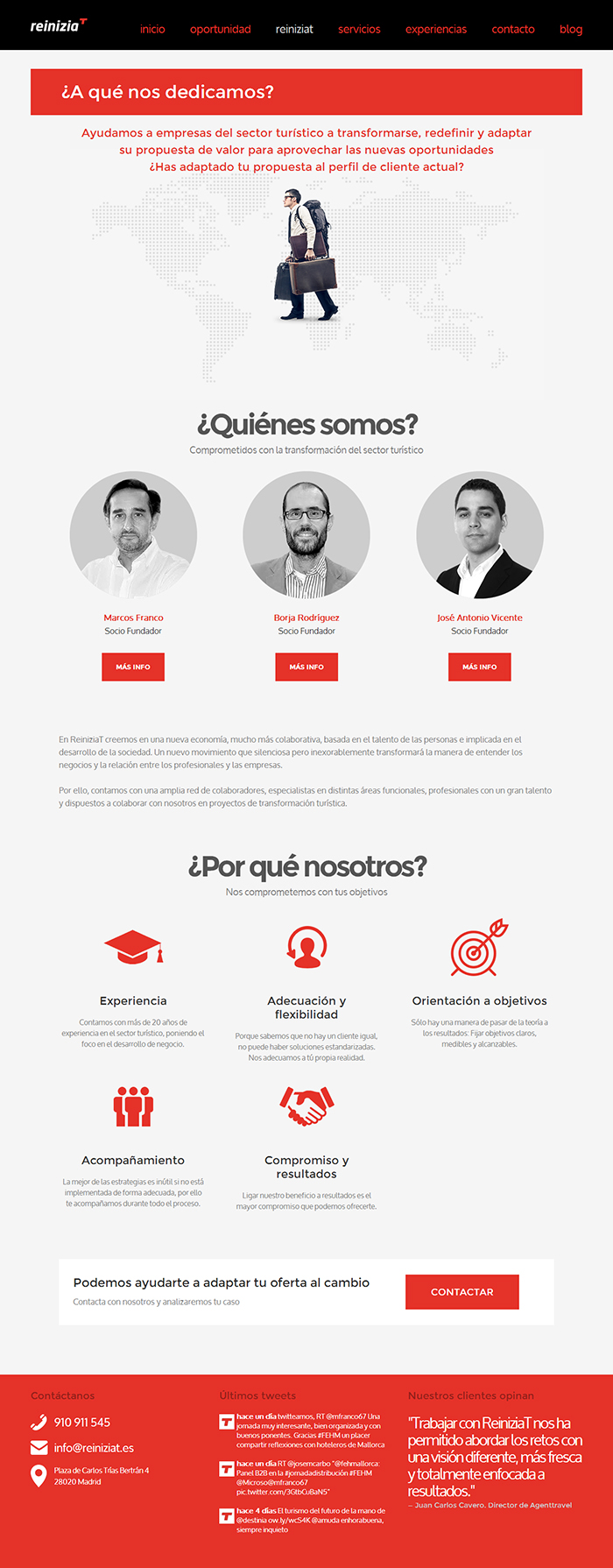 Diseño página web Reiniziat