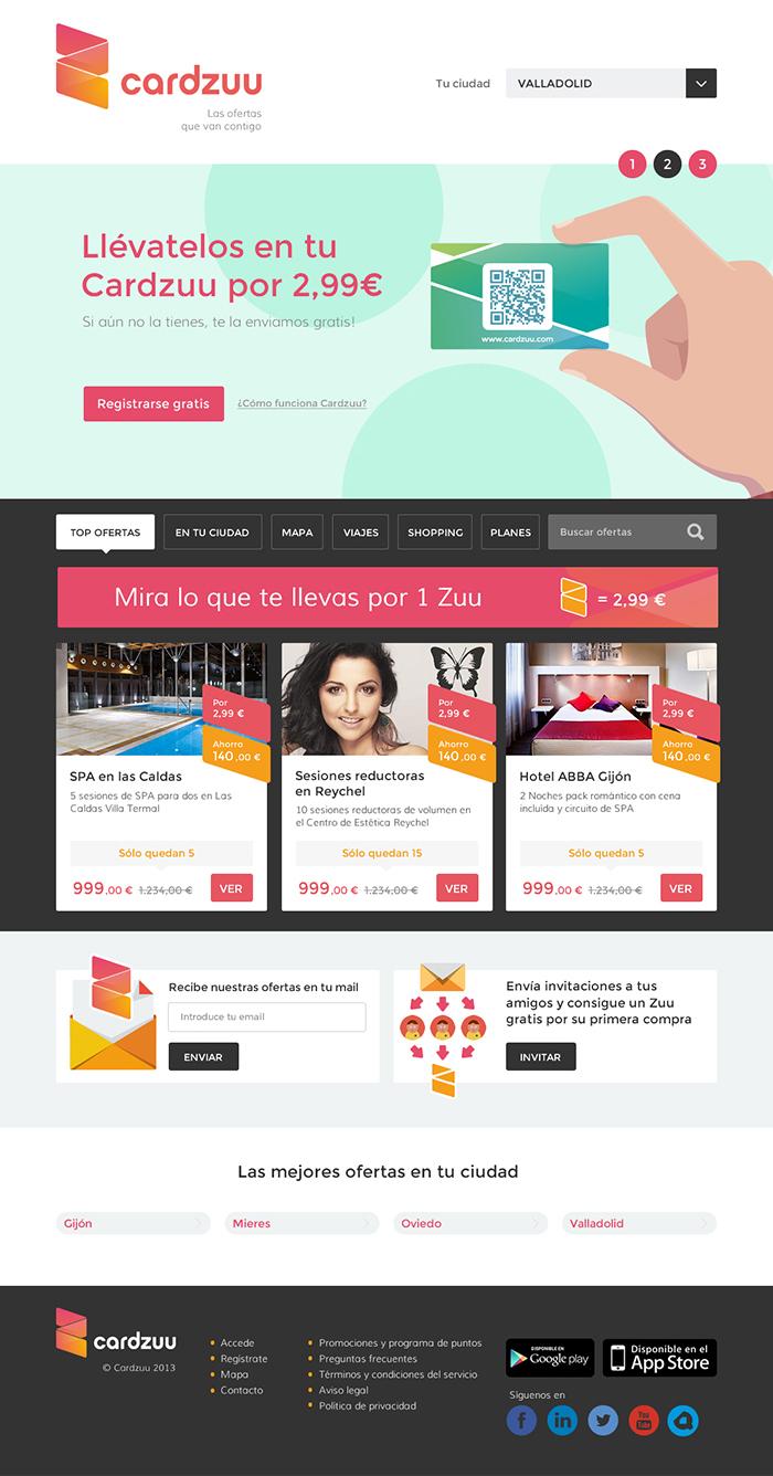 Diseño página web Cardzuu