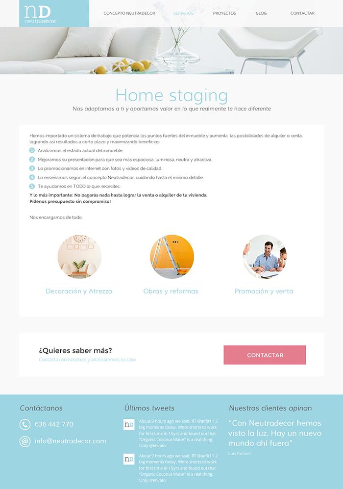 Diseño página web Neutradecor