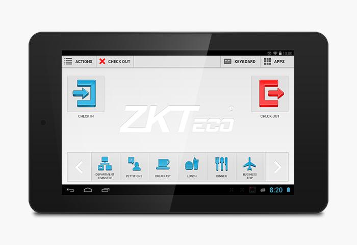 App móvil ZKTecko