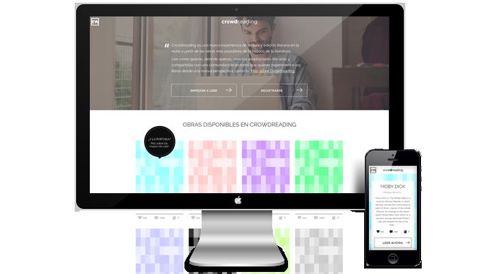 Diseño web Crowdreading