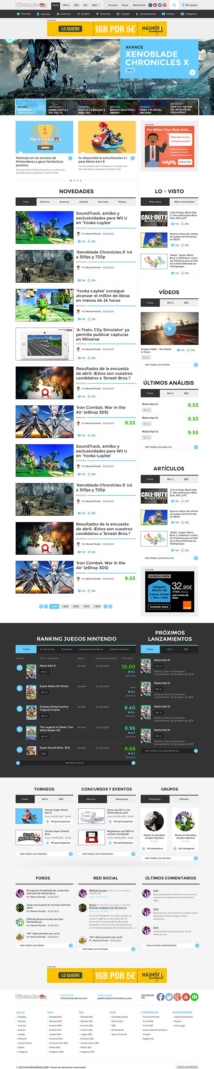 Diseño web Nintenderos