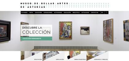El Museo de Bellas Artes de Asturias renueva su web
