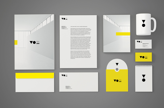 Diseño de la identidad corporativa de VO Arquitectos