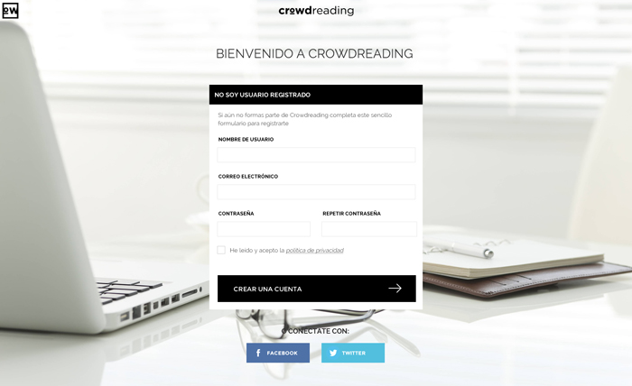 Diseño web Crowdreading