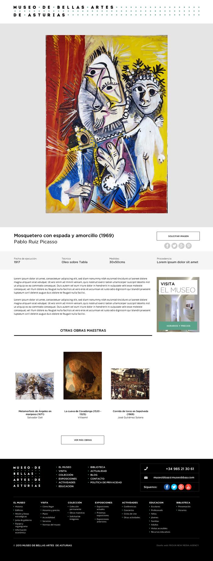 Diseño web Museo Bellas Artes Asturias