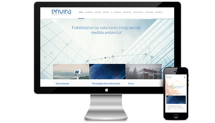 Diseño página web Envira Sostenible