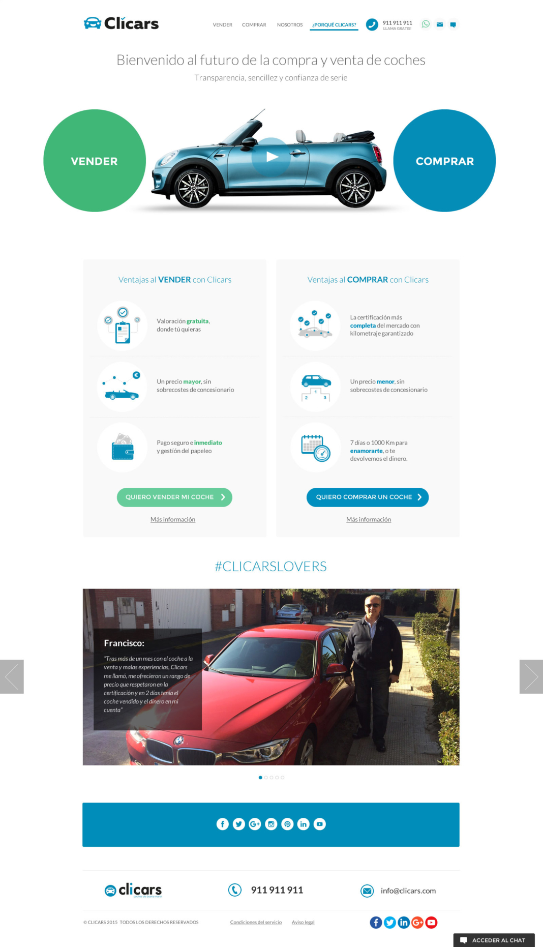 Clicars - diseño web y desarrollo web