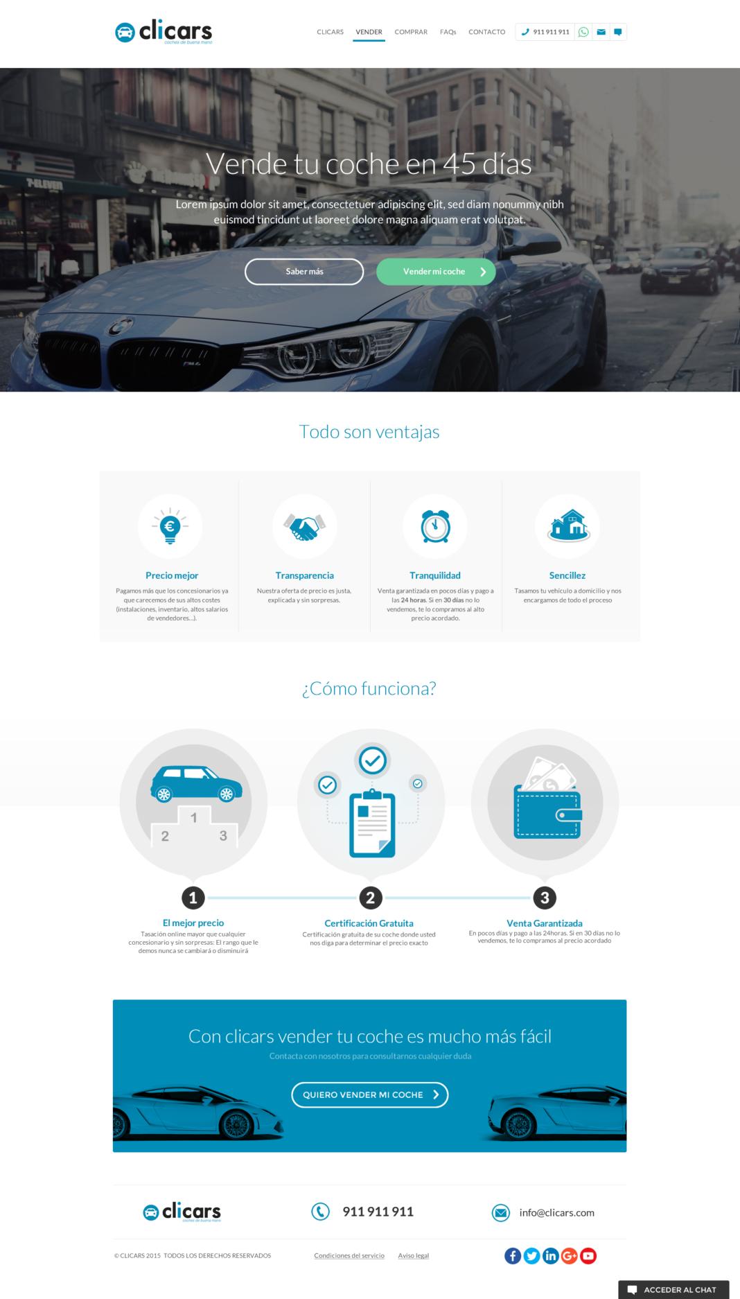 Clicars - diseño y desarrollo web y app